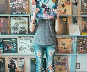 hipster, music, and record image