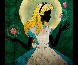 disney, alice, and alice in wonderland image