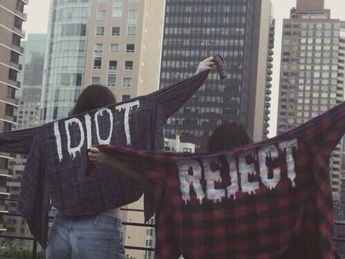 reject, idiot, and fuck society image