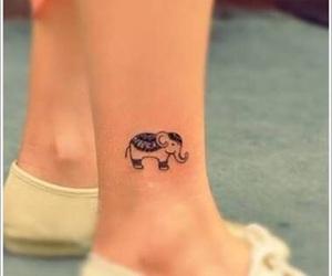 tattoo, elephant, and small image