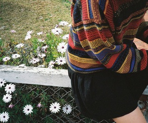 flowers, style, and sweater image