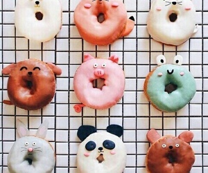 donuts, food, and animal image