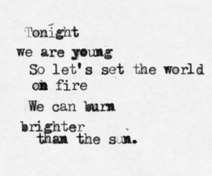 we are young, Lyrics, and quote image