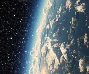earth, space, and galaxy image