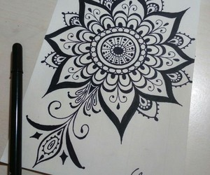 drawing, mandala, and relax image