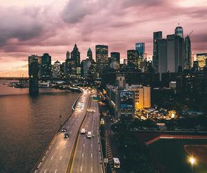 city, lights, and sky image
