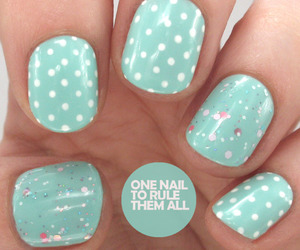 nails, beautiful, and dots image