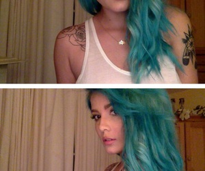 halsey, blue hair, and girl image