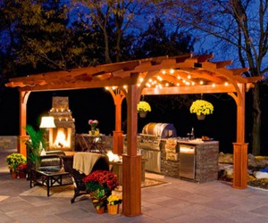 pergola, pergola designs, and pergola decor image