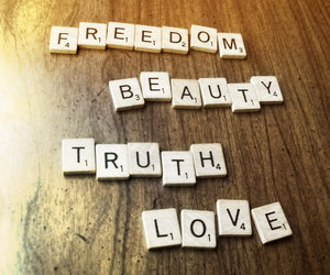 beauty, love, and freedom image