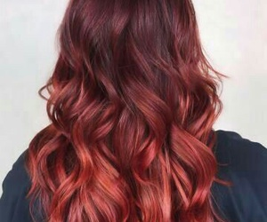 curls, red hair, and redhead image