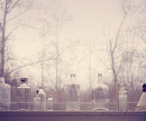 bottles, little, and trees image