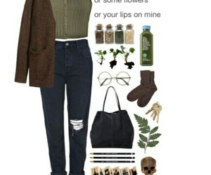 boyfriend jeans, top, and cardigan image