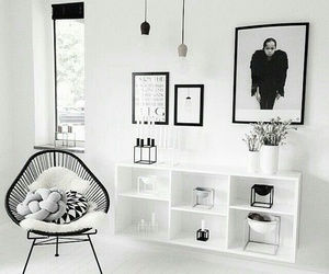 black and white, home, and decor image