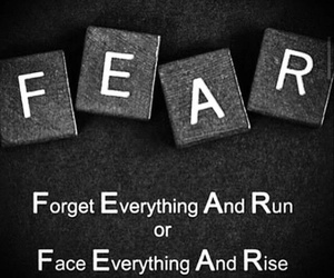 fear, quote, and rise image