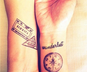 tattoo, wanderlust, and travel image