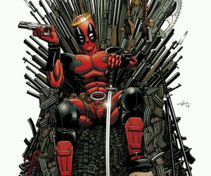 deadpool, Marvel, and game of thrones image
