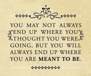 quote, life, and meant to be image