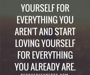 quotes, love yourself, and yourself image