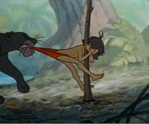 cat, the jungle book, and bagheera image