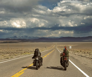bikers, california, and motorcycle image