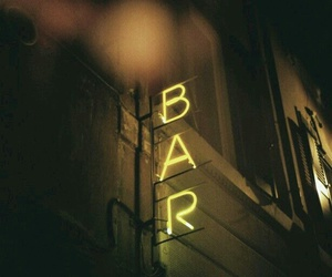 bar, yellow, and light image