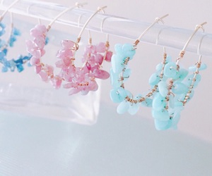 accessory, blue, and earrings image