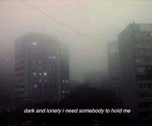 dark, lonely, and sad image