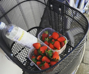 bike, bycicle, and strawberrys image