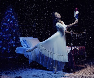 ballerina, enpointe, and ballet image