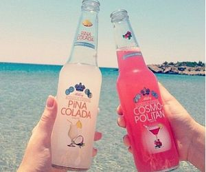 beach, pina colada, and bottle image