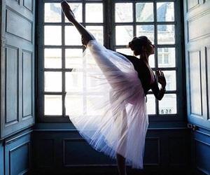 arabesque, dance, and ballerina image
