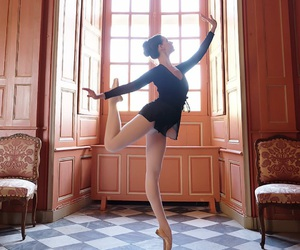 ballerina, dance, and enpointe image