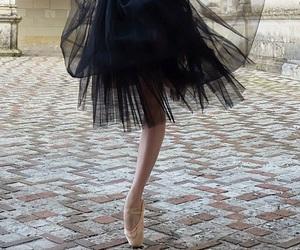ballerina, tutu, and black image