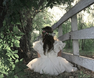 dress, photography, and flowers image