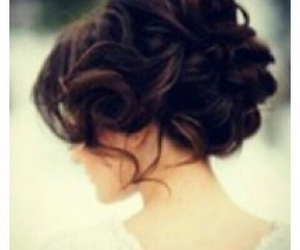 brunette, curl, and hairstyle image