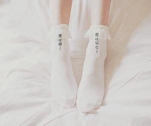 socks, white, and kawaii image