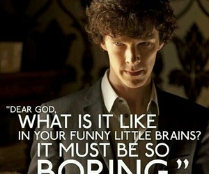 sherlock, bbc, and boring image
