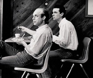 talking heads, Brian Eno, and david byrne image