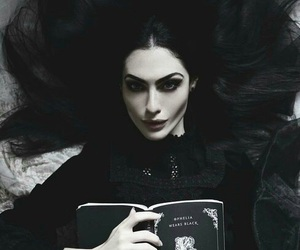 black, book, and goth image
