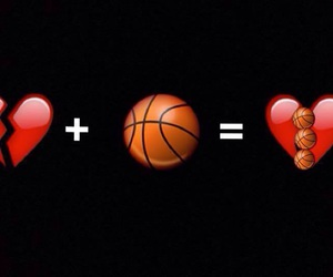 Basketball, basquetbol, and love image
