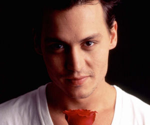 johnny depp, rose, and sexy image