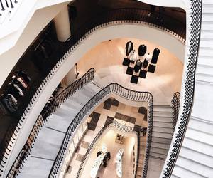 stairs, luxury, and white image