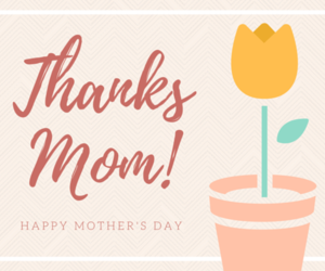 mom, thank you, and mother image