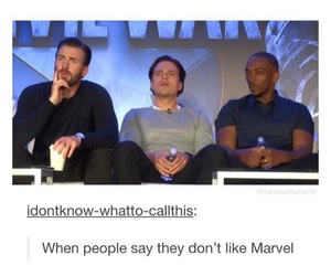 chris evans, Marvel, and sebastian stan image