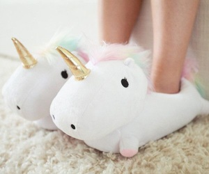 unicorn, slippers, and shoes image