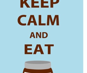 nutella and keep calm image