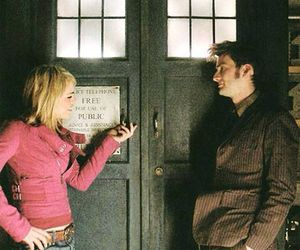 billie piper, doctor who, and david tennant image
