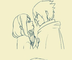 deviantart, love couple, and art drawing image