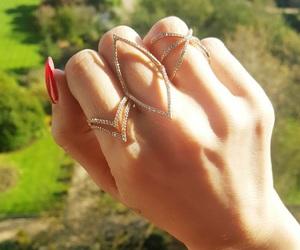 rings, bling, and nail polish image